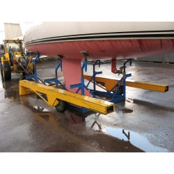 U model hydraulic boat trailer