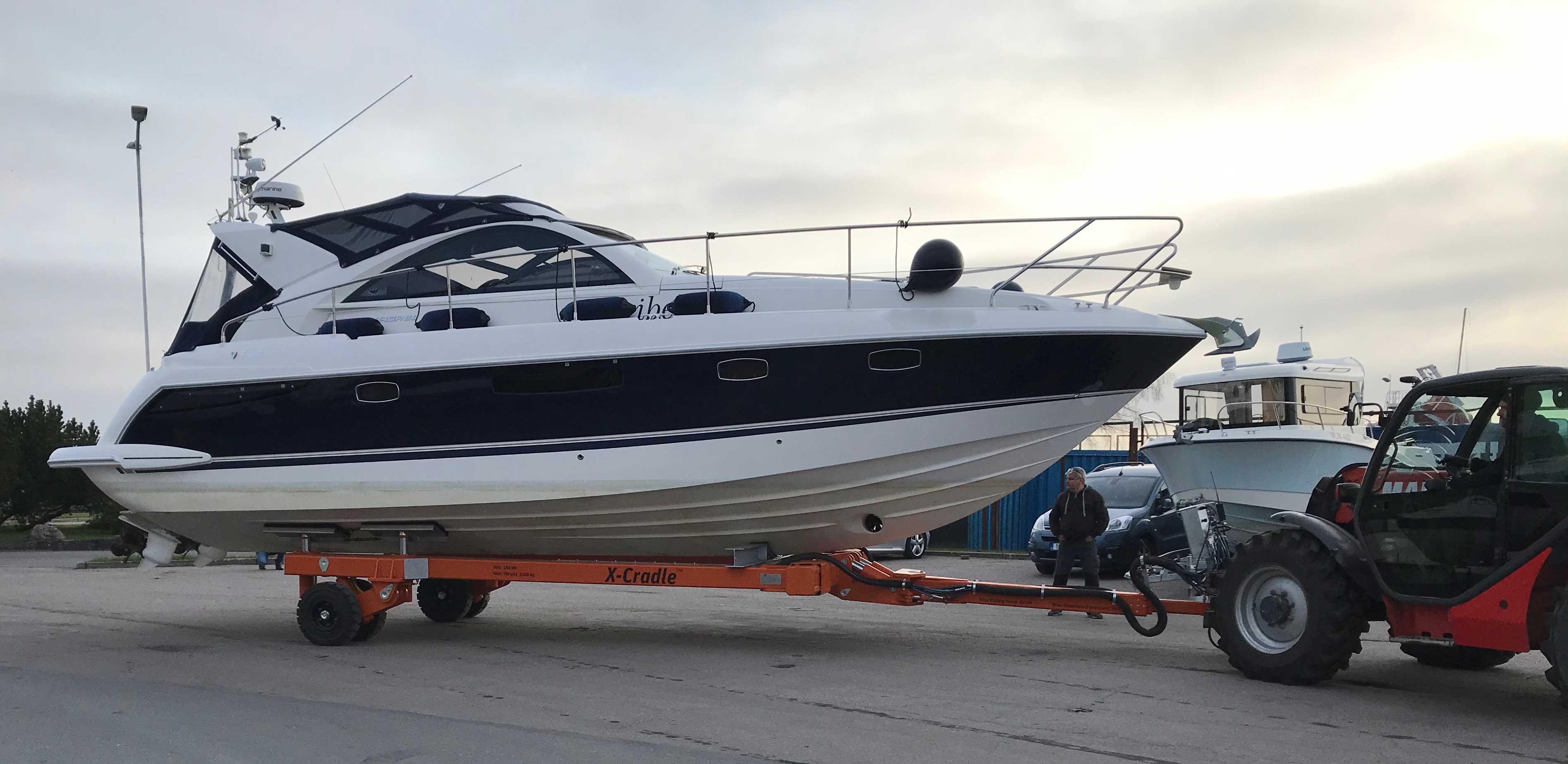 Hydraulisk båtvagn 12 t