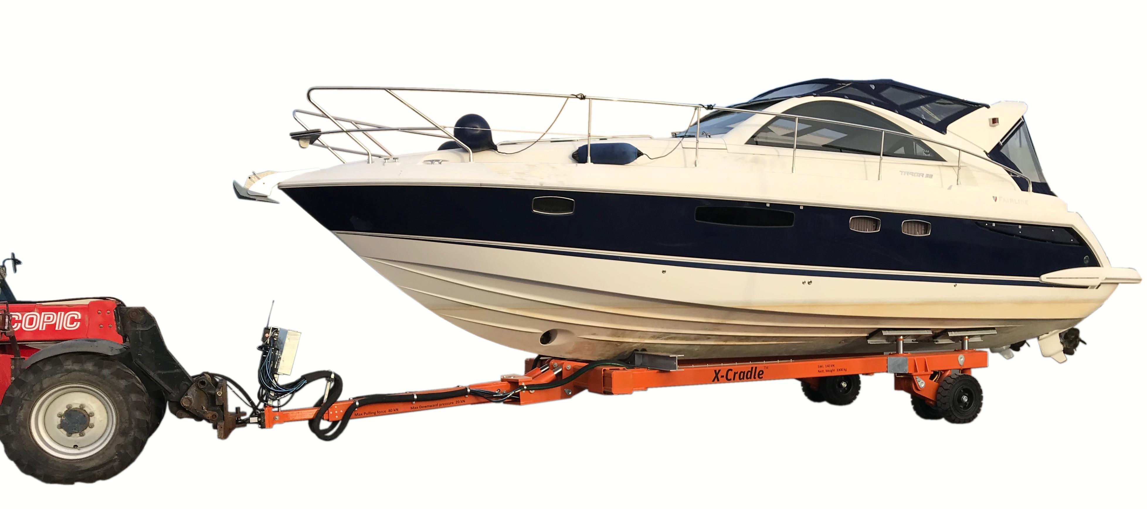 Hydraulisk båt trailer